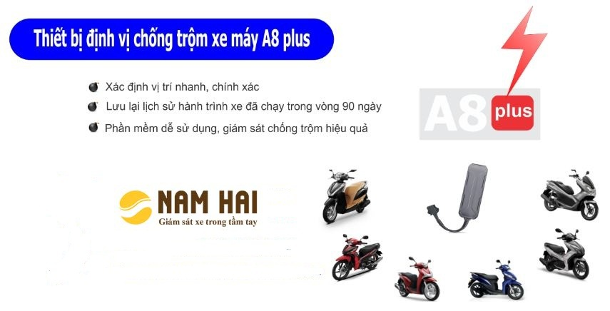 định vị xe máy a8 plus